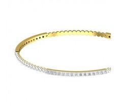 Natural Diamond Bangles 1.80 CT / 10.41  gm Gold