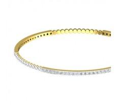 Natural Diamond Bangles 1.71 CT / 9.82  gm Gold