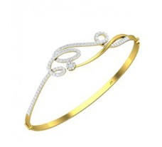 Natural Diamond Bracelet 0.88 CT / 14.30 gm Gold