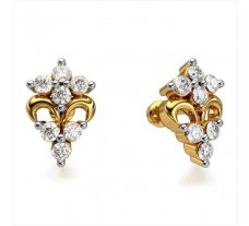 Diamond Earrings 0.21 CT / 2.25 gm Gold