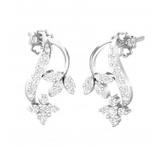 Natural Diamond Designer Earrings 0.31 CT / 2.30 gm Gold