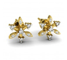 Natural Diamond Designer Earrings 0.14 CT / 2.40 gm Gold