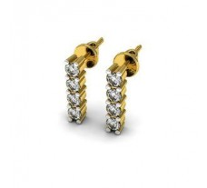 Natural Diamond Designer Earrings 0.20 CT / 2.14 gm Gold