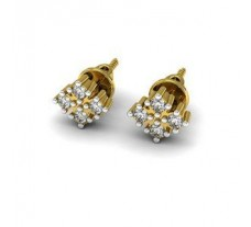 Natural Diamond Traditional Earrings 0.16 CT / 1.95 gm Gold