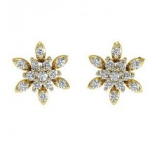 Natural Diamond Traditional Earrings 0.26 CT / 2.74 gm Gold