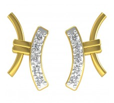 Natural Diamond Earrings 0.23 CT / 2.30 gm Gold