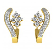 Natural Diamond Earrings 0.38 CT / 3.15 gm Gold