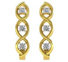 Natural Diamond Earrings 0.42 CT / 6.30 gm Gold