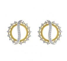 Natural Diamond Earrings 0.57 CT / 5.10 gm Gold