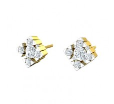 Natural Diamond Earrings 0.40 CT / 2.70 gm Gold