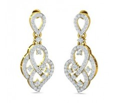 Natural Diamond Earrings 2.18 CT / 9.10 gm Gold
