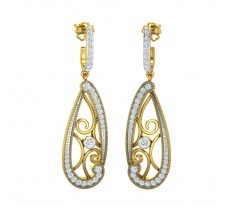 Natural Diamond Earrings 0.752 CT / 8.37 gm Gold