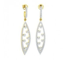 Natural Diamond Earrings 1.39 CT / 7.12 gm Gold