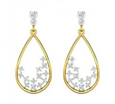 Natural Diamond Earrings 0.54 CT / 4.82 gm Gold