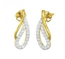 Natural Diamond Earrings 0.36 CT / 2.55 gm Gold