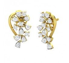 Natural Diamond Earrings 0.40 CT / 3.14 gm Gold