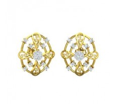 Natural Diamond Earrings 0.40 CT / 4.00 gm Gold