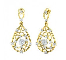 Natural Diamond Earrings 0.55 CT / 4.20 gm Gold
