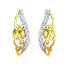 Natural Diamond Earrings 0.25 CT / 2.40 gm Gold