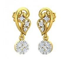 Natural Diamond Earrings 0.40 CT / 3.13 gm Gold