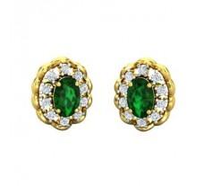 Natural Diamond & Gemstone Earring 1.38 CT / 4.00 gm Gold