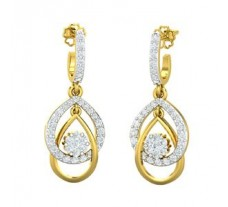 Natural Diamond Earrings 0.62 CT / 3.85 gm Gold
