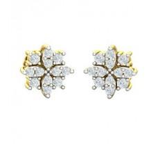 Natural Diamond Earrings 0.56 CT / 2.65 gm Gold
