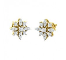 Natural Diamond Earrings 0.52 CT / 3.45 gm Gold