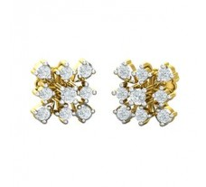 Natural Diamond Earrings 0.48 CT / 3.31 gm Gold