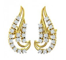 Natural Diamond Earrings 0.38 CT / 3.31 gm Gold