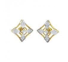 Natural Diamond Earrings 0.31 CT / 2.95 gm Gold