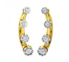 Natural Diamond Earrings 0.13 CT / 1.30 gm Gold