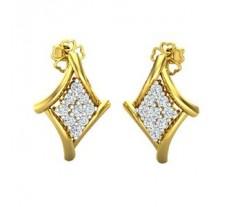Natural Diamond Earrings 0.36 CT / 2.98 gm Gold