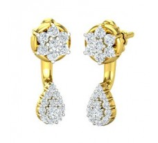 Natural Diamond Earrings 0.55 CT / 3.56 gm Gold
