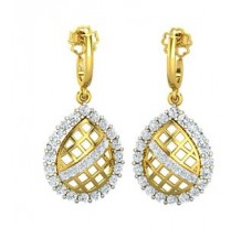 Natural Diamond Earrings 1.06 CT / 4.90 gm Gold