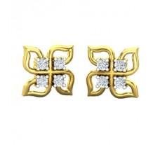 Natural Diamond Earrings 0.32 CT / 4.17 gm Gold