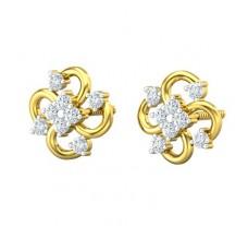 Natural Diamond Earrings 0.32 CT / 2.64 gm Gold