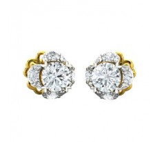Natural Diamond Earrings 0.54 CT / 1.90 gm Gold