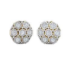 Natural Diamond Earrings 0.42 CT / 3.30 gm Gold