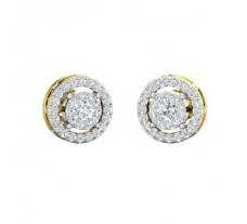 Natural Diamond Earrings 0.84 CT / 3.75 gm Gold