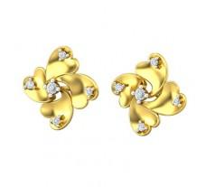 Natural Diamond Earrings 0.16 CT / 4.20 gm Gold