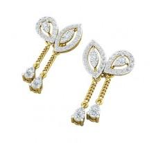 Natural Diamond Earrings 1.46 CT / 6.40 gm Gold