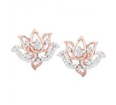 Natural Diamond Earrings 0.46 CT / 4.60 gm Gold