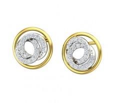 Natural Diamond Earrings 0.44 CT / 4.46  gm Gold