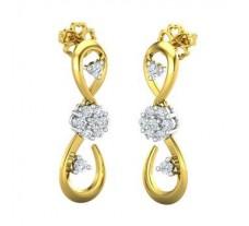 Natural Diamond Earrings 0.49 CT / 5.22 gm Gold