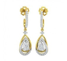 Natural Diamond Earrings 0.77 CT / 5.45 gm Gold