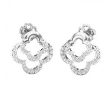 Natural Diamond Earrings 0.42 CT / 4.31 gm Gold