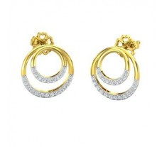 Natural Diamond Earrings 0.41 CT / 4.26 gm Gold