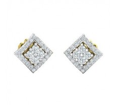 Natural Diamond Earrings 0.48 CT / 3.20 gm Gold