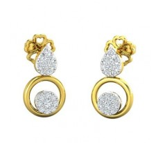 Natural Diamond Earrings 0.22 CT / 2.74 gm Gold
